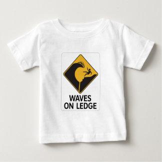 Waves On Ledge (2), Sign, Hawaii, US Baby T-Shirt