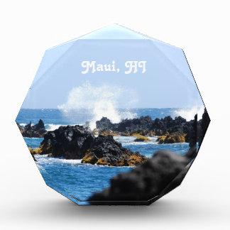 Waves on Maui Coast Acrylic Award