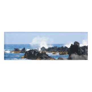 Waves on Maui Coast Name Tag