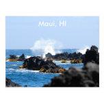 Waves on Maui Coast Postcard