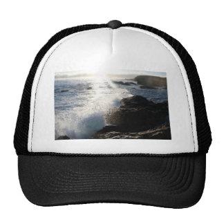 Waves on rocks hats
