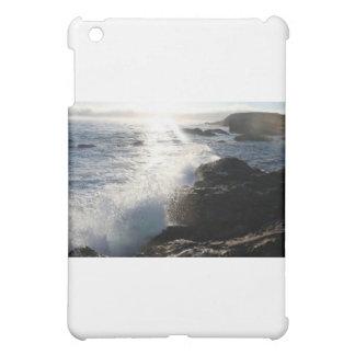 Waves on rocks iPad mini cover