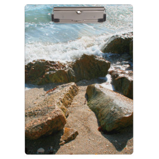 waves on rocks on beach shore image clipboard