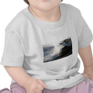 Waves on rocks tee shirts