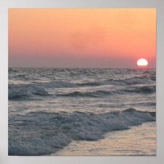Waves On Siesta Print