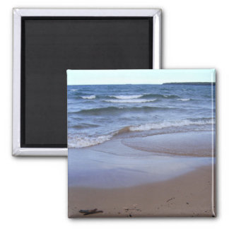 Waves on the Beach 2 Inch Square Magnet