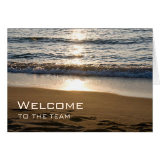 Waves on the Beach Employee Welcome Card