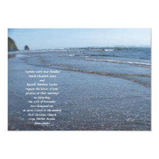 "Waves on the Beach Wedding 5"" X 7"" Invitation Card"