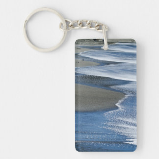 Waves on the sand keychain