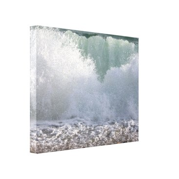 Art Themed Waves On The Shingle, Canvas Print