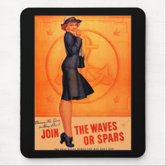 Waves or Spars Mouse Pad