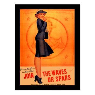 Waves or Spars Postcard