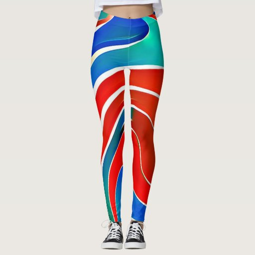 Waves Pattern #02 Leggings