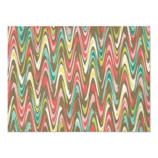 Waves pattern invitations