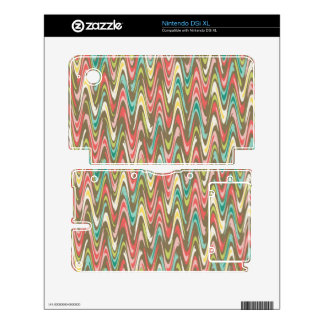 Waves pattern decal for DSi XL