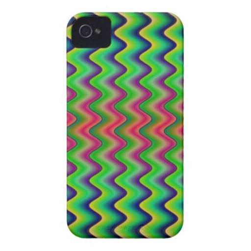 waves.png verde Case-Mate iPhone 4 carcasa