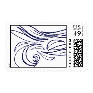 Waves Postage Stamp