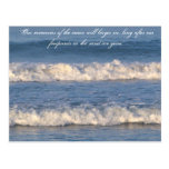 Waves Quotes Postcard