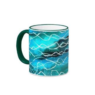 'Waves' Ringer Mug mug
