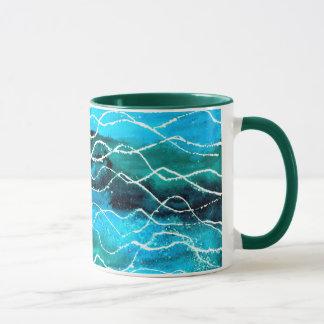 'Waves' Ringer Mug