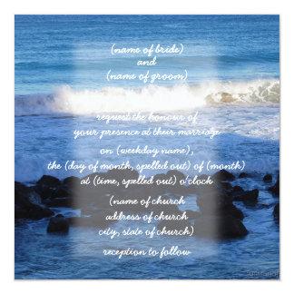 waves & rocks Invitation