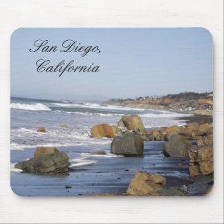 Waves & Rocks, San Diego, California Mouse Pads