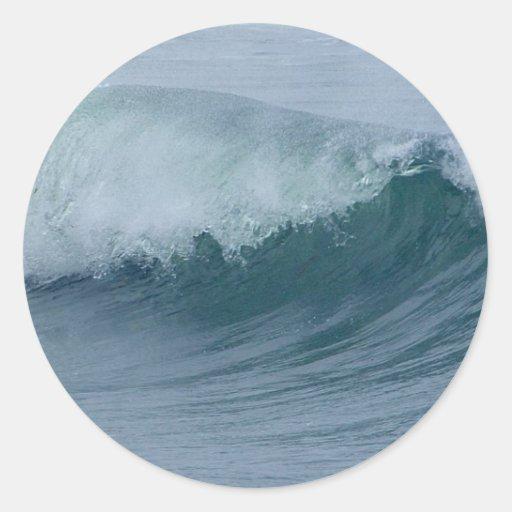 Waves Round Sticker