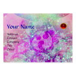 WAVES RUBY MONOGRAM, bright purple green blue pink Large Business Cards (Pack Of 100)
