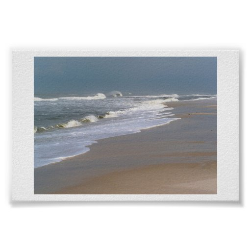 Waves Rush In Poster