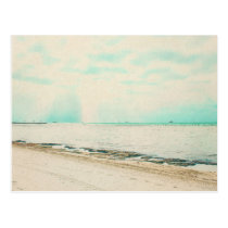 Waves, Sand, and Sky at Higgs Beach in Key West FL Postcard