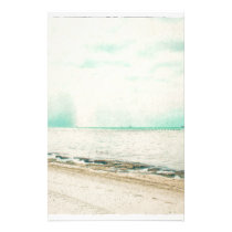 Waves, Sand, and Sky at Higgs Beach in Key West FL Stationery