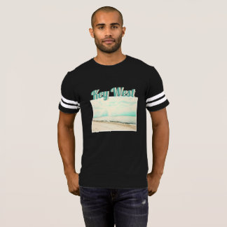 Waves, Sand, and Sky at Higgs Beach in Key West FL T-Shirt