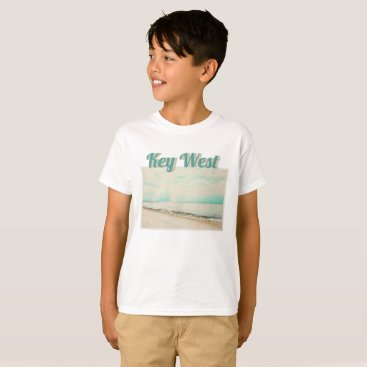 Beach Themed Waves, Sand, and Sky at Higgs Beach in Key West FL T-Shirt