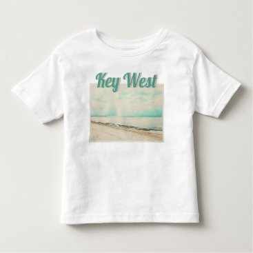 Beach Themed Waves, Sand, and Sky at Higgs Beach in Key West FL Toddler T-shirt