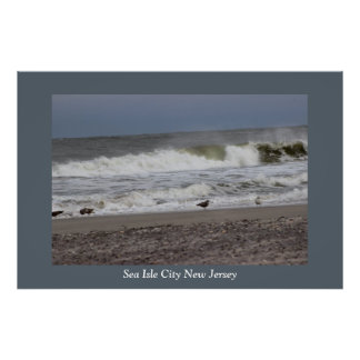 Waves Sea Isle City Poster