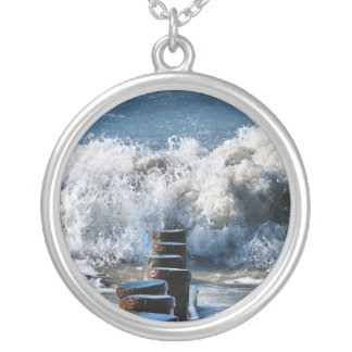 WAVES SILVER PLATED NECKLACE