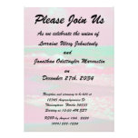 waves solarized magenta green beach abstract custom announcement