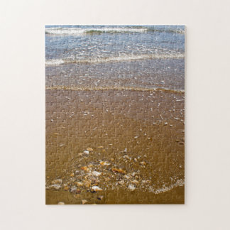 Waves Splashing Against Pebbles on a Beach Puzzle