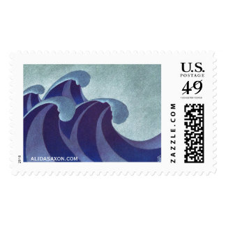 Waves Stamp