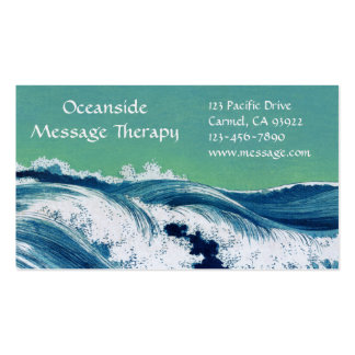 Waves Standard Business & Appointment Card Business Card Templates