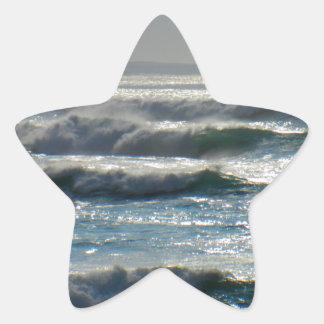 waves star sticker