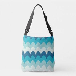waves, summer, decorative, modern, cool, crossbody bag
