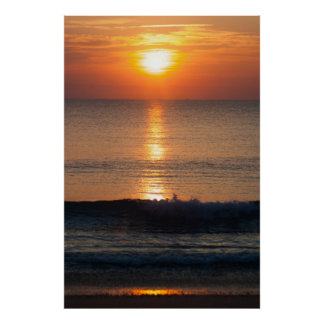 Waves Sunrise South Hutchinson Poster