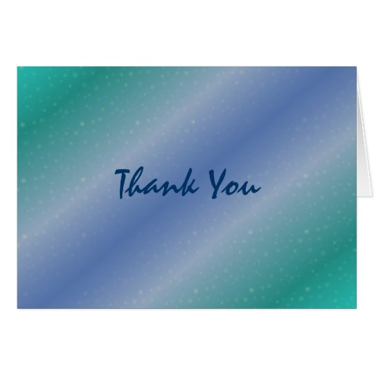 """Waves"" Thank You Card"