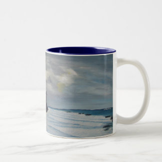 Waves Two-Tone Coffee Mug