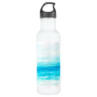 Waves Watercolor Water Bottle