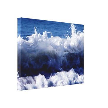 Art Themed Waves Waves by ArtisicVegas Charles Meade Canvas Print