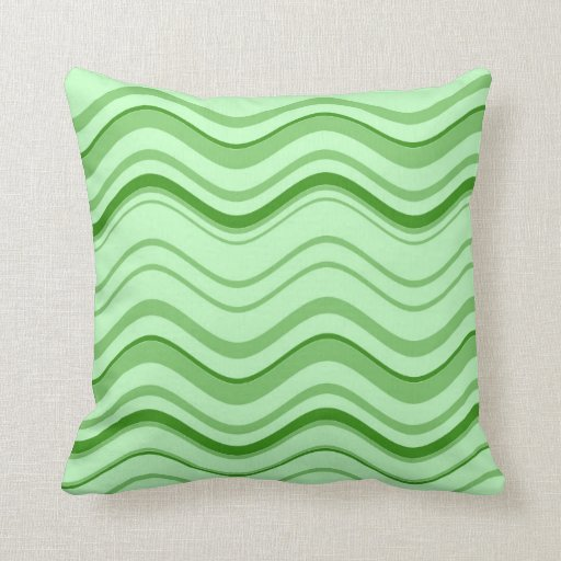 Wavey Line Stripes Abstract 2 Throw Pillows