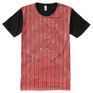 Wavey red pattern All-Over-Print T-Shirt