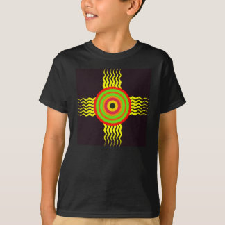 Wavey yellow bolts and color bulls eye with black T-Shirt